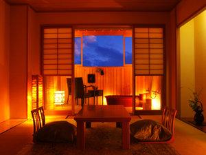 テラス陶器風呂付き和室『ごろりひとやすみの間』