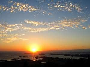 弓張の丘ホテルからの夕日