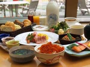 北海道産の食材をつかった朝食バイキング