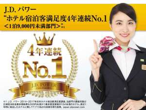 スーパーホテル上野・御徒町:JDパワー顧客満足度調査で4年連続満足度NO.1受賞!!