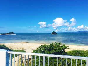 海人の宿:海人の宿のテラスからの風景。美しい海が目の前です。