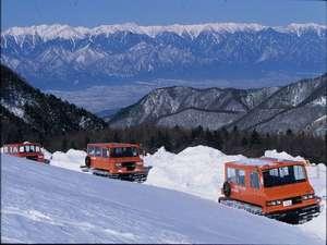 美ヶ原高原 雲上の一軒宿 王ヶ頭ホテル:冬季は「雪上車体験」が大人気です!毎日開催・無料(悪天時中止)
