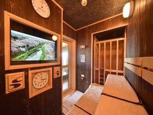 天然温泉 天都の湯 ドーミーイン網走:【男性浴場サウナ】TV完備サウナをご用意しております。(深夜1時~5時まで停止)