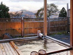 赤倉温泉 旅館清風荘:*大自然を望む、眺めの良い開放感溢れる貸切露天風呂をご堪能ください!