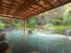 わいた温泉郷 やすらぎの宿 まつや:【混浴大露天】湯船の広さだけで約30畳もある大露天風呂。平日は貸切無料で広々露天を独占!