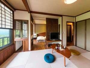 わいた温泉郷 やすらぎの宿 まつや:新しく完成した2間続きの客室