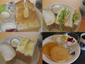 ヴィアイン広島:洋朝食:500円。4種類のセットメニューをご用意。ご宿泊者限定の特別料金です。テイクアウト可。