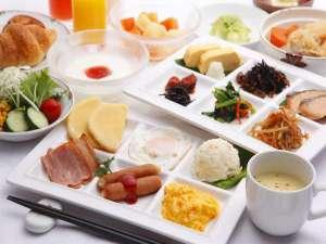 アパヴィラホテル<仙台駅五橋>(アパホテルズ&リゾーツ):朝食(和・洋取り分けイメージ)
