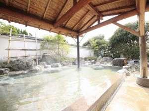 栃木 那須 馬頭温泉郷 南平台温泉ホテル:湯量の豊富な観音湯露天風呂