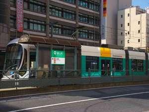 チサンホテル広島:ホテルの前に「銀山町」電停と路線バスのバス停!JR広島駅や宮島方面へは乗換無しでアクセスが大変便利♪