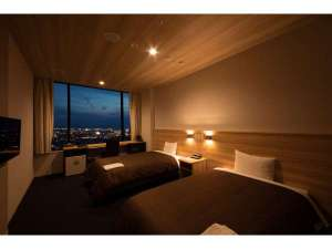 関空泉佐野センターホテル:120cm×200cmのベッドが2つございます