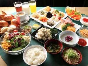 関空泉佐野センターホテル:朝食バイキング盛り付け例