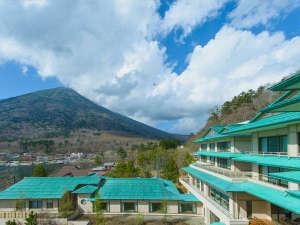 寺社の贅沢な造りの特徴である、緑青色の総銅拭きの屋根。