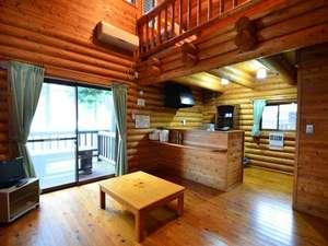 旭志温泉 四季の里 旭志 :【ログハウス】広々とした二階建てのお部屋です。自炊も可能の設備が整っています♪