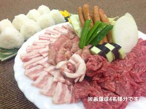 旭志温泉 四季の里 旭志 :*地元産の食材を美味しくバーベキュー♪