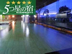 つなぎ温泉 湯守 ホテル大観:当館は「5つ星認定の宿」北東北最大級の25メートルある湯量豊富な大浴場