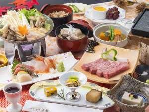 つなぎ温泉 湯守 ホテル大観:【旬彩会席「かきつばた」】2018年秋のお料理一例※内容は一部変更となる場合がございます。