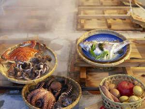 """小浜温泉を""""蒸気""""で愉しむ 湯宿 蒸気家:食材によって蒸す時間が異なりますので、タイマーを借りれますよ!"""