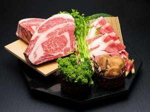 厳選和牛・フレッシュ野菜を使用した料理は石のやならでは