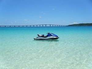 沖縄・宮古島・貸別荘・がんずぅーやー:シュノーケリング、ジェットスキー、バナナボート等マリンスポーツも楽しめます。