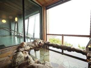 龍飛崎温泉 ホテル竜飛:津軽海峡を一望できる露天風呂(※男女)