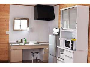 各棟にBBQ設備と温泉付き 温泉コテージ桜の丘:調理器具も揃っています