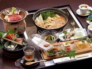 源泉かけ流しの宿 吟松亭あわしま:山賊鍋+上州牛ステーキプラン