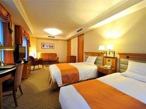 ホテルメトロポリタン盛岡 ニューウイング:【デラックスツインルーム】48㎡≪120㎝幅セミダブル・シモンズベッド+ビューバス+シャワーブース≫
