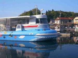 九十九湾 料理民宿 一水:当館前は遊覧船乗り場です。