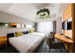 ホテルメッツ渋谷 東京<JR東日本ホテルズ>:プレミアムグリーン(21平米)緑をふんだんに取入れた開放的な空間