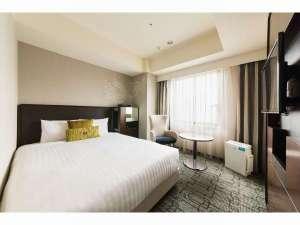 ホテルメッツ渋谷 東京<JR東日本ホテルズ>:プレミアムダブル(17平米)160センチ幅のワイドベッドを配置