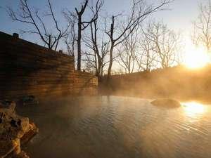 ザ ガンジー ホテル&リゾート:目の前に広がる国立公園を眺めながら、エメラルドグリーンに輝く源泉100%掛け流しを堪能