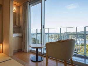 伊勢志摩の波音 海楼:3F客室からは雄大な鳥羽湾と離島の風景を一望いただけます