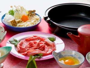 珠玉の湯 薬師堂温泉:【前沢牛をいろいろな食べ方で♪】甘さ際立つすき焼き