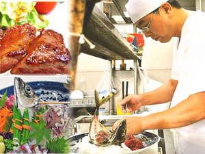 和風旅館 津江の庄では、目と味でお料理を愉しんで頂けます様、料理長が食材を吟味したお料理の数々が並びます!
