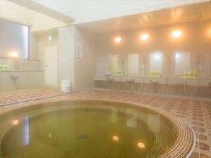 水沢翠明荘:いつでも入れる大浴場完備