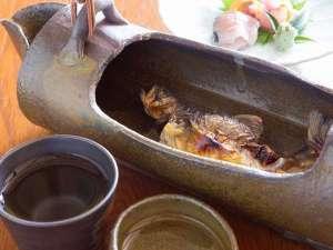 あんきな宿 宝山荘別館:岩魚の骨酒(別注)