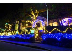 マホロバマインズ三浦:イルミネーションがホテルの夜を彩ります♪