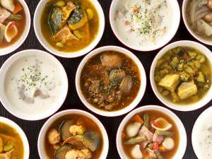 【朝食ビュッフェ】6種類のスープの中から日替わりでご用意します。(イメージ)