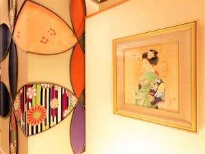 着物で彩られた全館畳敷の宿 楽山やすだ(18年9月リニューアル)の写真
