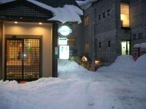 雪景色の外観写真