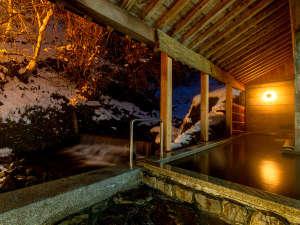 ハチ北唯一の天然温泉露天風呂です。