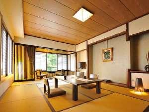 別所温泉 一人旅歓迎の宿 上松屋旅館:湯端館12畳客室は温泉街を一望できる落ち着いた空間でお過ごしいただけます。