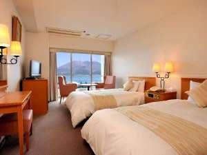 鹿児島サンロイヤルホテル:高層階ツインルーム