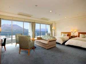 鹿児島サンロイヤルホテル:デラックスツインルーム