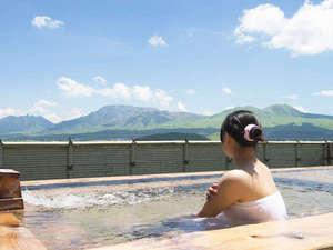 阿蘇プラザホテル:雄大な阿蘇の景色を眺めながらのお風呂は最高!