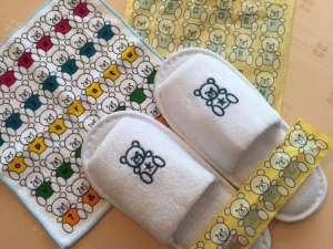 ◆キッズアメニティ◆スリッパ・歯ブラシ・タオルのセットです