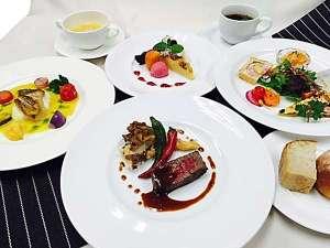 【1泊2食付】ホテルで、んめぇごっぞぉあがらっしゃれ~♪プラン夕食イメージ