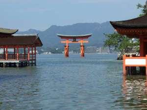 【宮島】世界遺産でもあり日本三景の一つ。■アクセス■広島駅よりJRとフェリーを乗り継いで約45分。