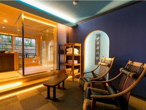 人気の露天風呂付き客室と美味に和む宿 かのうや:【別邸そらの庭】6階「月代」リラクゼーションルーム